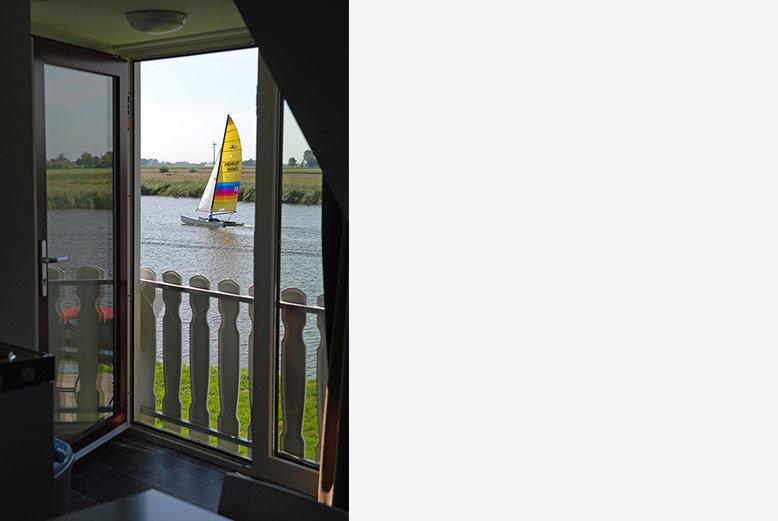 2 persoonsappartement buitenzicht-boot